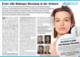 Blick am Abend: No Makeup bei skinmed Behandlung