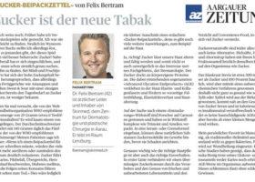 Zucker ist der neue Tabak – Kolumne Felix Bertram Aargauer Zeitung