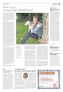Kolumne Felix Bertram Aargauer Zeitung: Lionel der Klinikhund