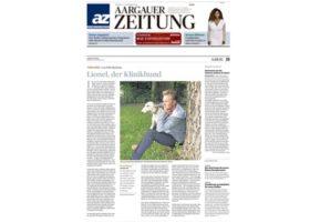Kolumne Felix Bertram in der Aargauer Zeitung über den Klinikhund Lionel
