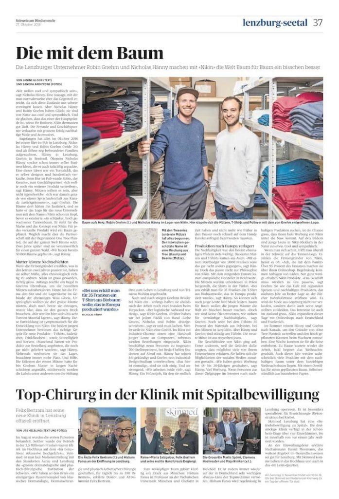 AZ Eröffnung skinmed Lenzburg Bericht