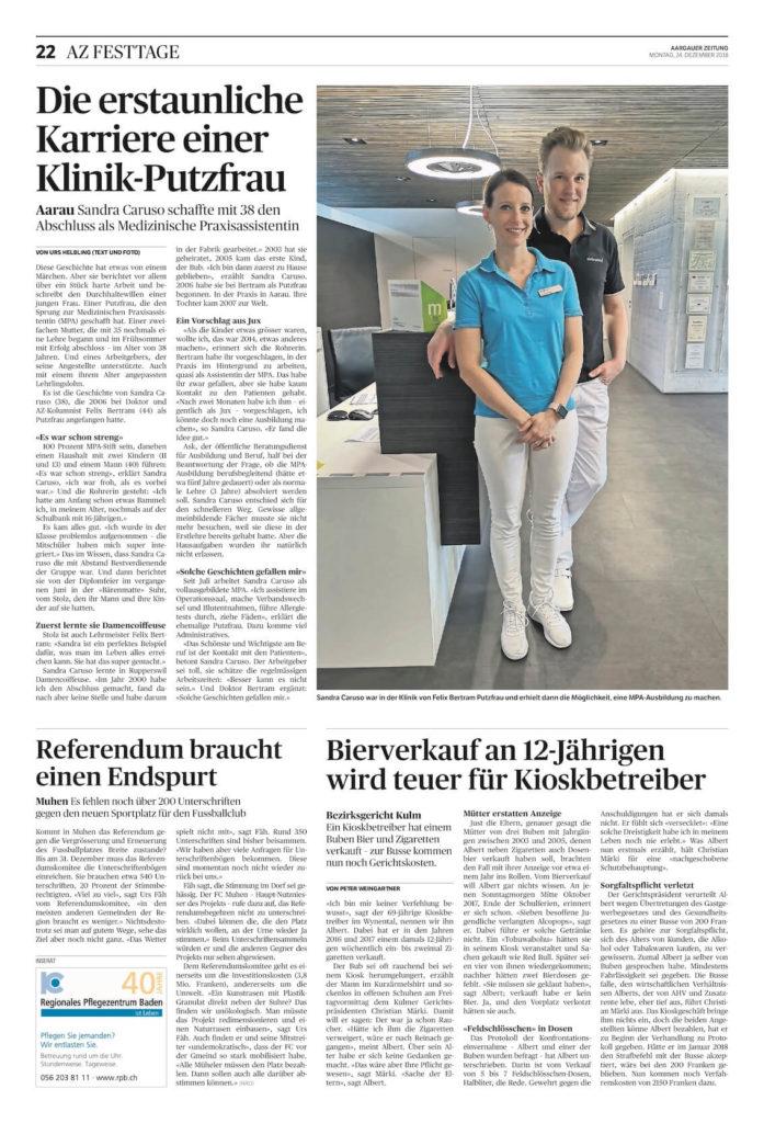 Aargauer Zeitung Portrait Sandra Caruso