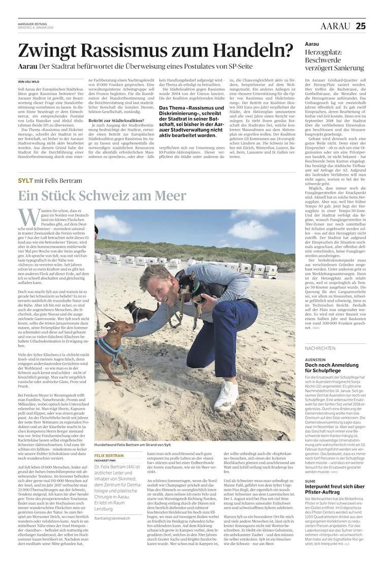 Kolumne Aargauer Zeitung Felix Bertram Sylt
