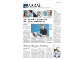 Lippenunterspritzung Aargauer Zeitung