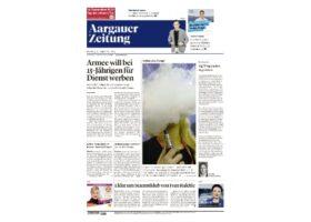 Dr. Felix Bertram wird Schweizer Titelseite